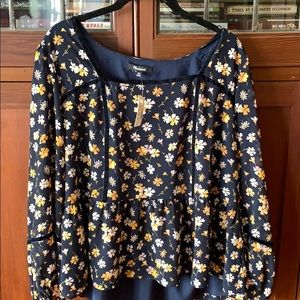 Madewell Blouse in Flower Print